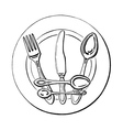 crown on a plate vector image
