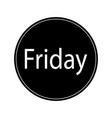 black friday round icon vector image