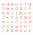 49 person icons vector image vector image