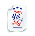 4th july background american independence day vector image vector image