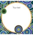 Aboriginal art background vector image
