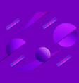 abstract geometric shapes on a purple background vector image vector image