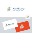 bird logotype with business card template elegant vector image