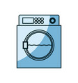 blue shading silhouette of wash machine vector image