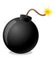 bomb cartoon vector image vector image