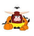 bull is a symbol 2021 zodiac taurus year vector image vector image