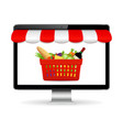buy food online online shopping concept vector image