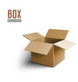 cardboard box icon 3d isolated on white background vector image vector image