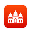 children house castle icon digital red vector image vector image
