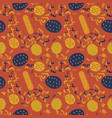 chips and sausage creative pattern vector image