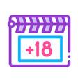 clapper board icon outline vector image