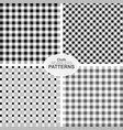 collection of seamless textile patterns vector image vector image