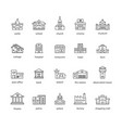 collection of touristic icons vector image vector image