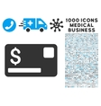 Credit Card Icon with 1000 Medical Business vector image