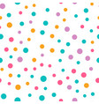 cute circle seamless pattern on white background vector image vector image