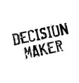 decision maker rubber stamp vector image vector image