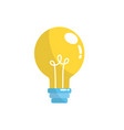electric bulb light and power energy vector image vector image