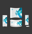 exhibition stand with surgeons team working vector image vector image