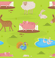 farm animals seamless pattern design element can vector image