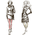 Fashion winter style sketch vector image