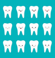 flat design cartoon cute tooth character with vector image vector image