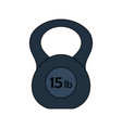 flat design icon of kettlebell vector image vector image