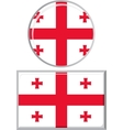 Georgian round and square icon flag vector image vector image