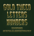 gold tweed letters numbers dollar and euro vector image vector image