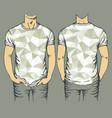 gray t-shirts templates vector image vector image