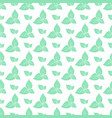green leaves of fresh mint seamless pattern vector image