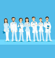 group doctors with stethoscopes vector image