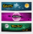 Happy Halloween banners collections vector image vector image