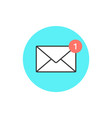 icon of new email envelope vector image