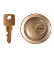 Keyhole and key vector image vector image