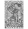 knight engraved fantasy vector image