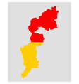 Map and flag of Burgenland vector image vector image