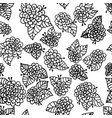 monochrome flower seamless pattern background vector image