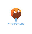 mountain point logo vector image vector image