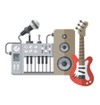 Music equipment flat style vector image vector image