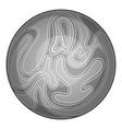 planet icon monochrome vector image