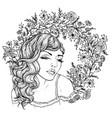 pretty elegant boho girl on background vector image vector image