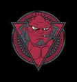 red devils smoking hand drawingshirt designs vector image vector image