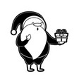santa claus holding gift christmas related icon vector image