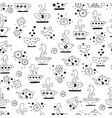 seamless pattern drinking of tea monochrome vector image