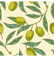 Seamless pattern with Olive branch vector image