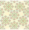 seamless texture rosette decorative ornamental vector image vector image