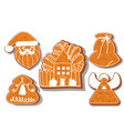 set of christmas cookies set of different vector image vector image