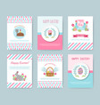 set of easter greeting cards vector image vector image