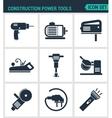 Set of modern icons Construction Power vector image vector image