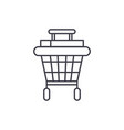 shopping stroller line icon concept shopping vector image vector image